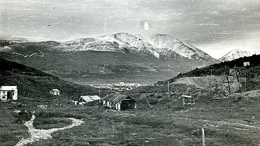 Вид на Горный участок и поселок Харбей
