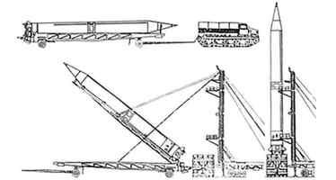 Установка Р-12 с тележки на стартовый стол