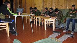 Учебные будни в гостинице базы Перевал. Октябрь 2013
