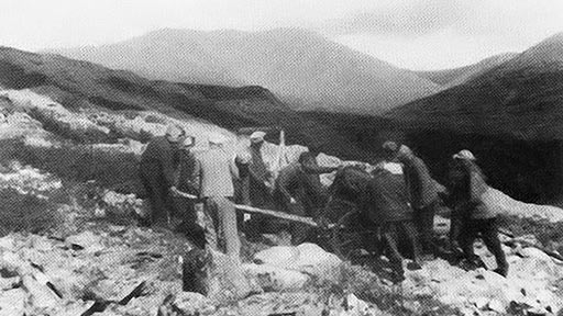 Харбей. Перенос буровой. 1948 год