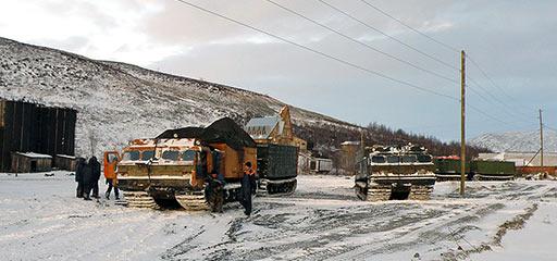 Колонна ДТ-30 «Витязь» на базе «Перевал» в Полярном