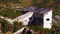 Лебедка бремсберга и галерея конвейера к бункерам