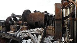 Левая шаровая мельница Харбейской ООФ. 18.09.2014