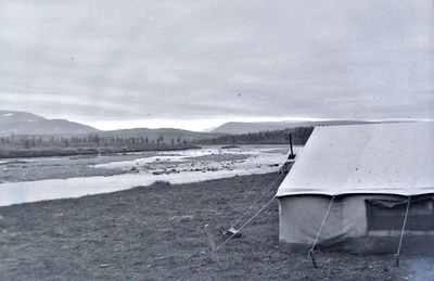 Палатки под Янаслором. 1987 год