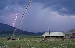 Молния на Харчерузе (Сыумкеу). Август 2005