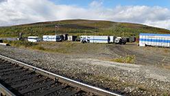 Остановка поезда 110-й км Полярный 2.09.2014