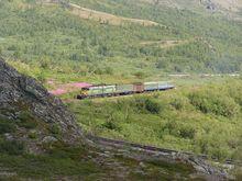 Поезд Лабытнанги - Воркута. 114-й км. Июль 2004