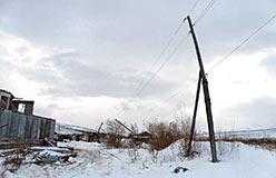 Перед базой ПУГГП на кожиме линия вовсе разрушена. 8 ноября 2012