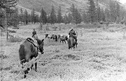 Передвижение на лошадях в 50-х и 60-х гг.
