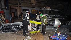 Погнули тягу. Ремонт на базе Перевал в Полярном. 3 апреля 2014