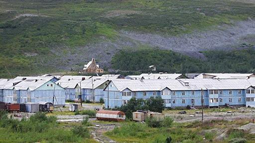 Поселок Полярный перед переселением. 2004