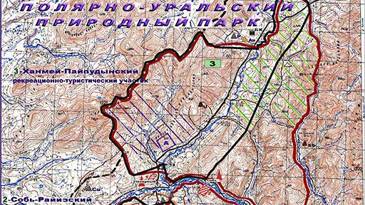 Природный парк «Полярно-Уральский». Схема