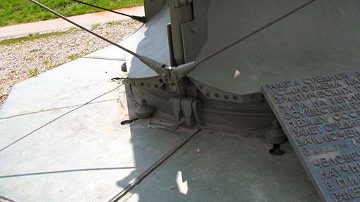 Р-12. Крепления стартового стола к заделочному кольцу