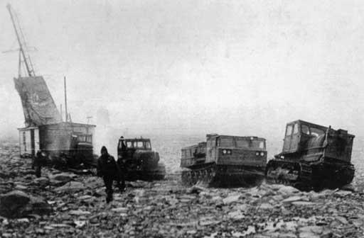 Геологические работы в 60-е годы. Три Т-100М и АТС-59
