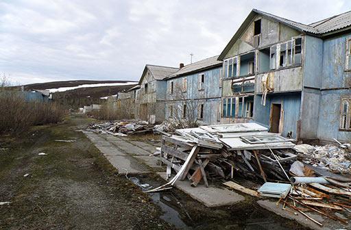 Разборка домов была начата администрацией Харпа и брошена