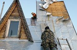 Шквалами порвало крышу теремка. 10 ноября 2012