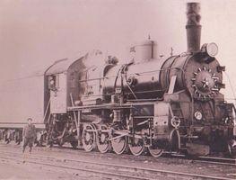 Станция Лабытнанги. Паровоз. 1948