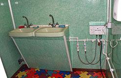 Теремок - гостиница горнолыжки. Умывальник после ремонта