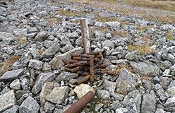 Уборка металла на старых участках буровых работ. Октябрь 2012
