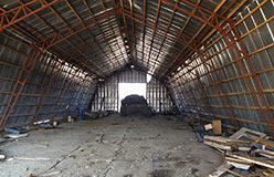 Уборка территории. Внутри арочника 16.09.2012