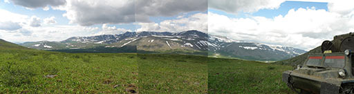 Урочище Медвежье с верховьев Оленьего ручья 26 июня 2012