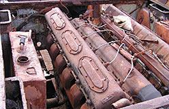 Моторное отделение Т-34