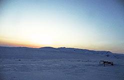 Закат с площадки локаторов
