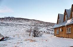 Выдуло снег с горнолыжной трассы. 8 ноября 2012