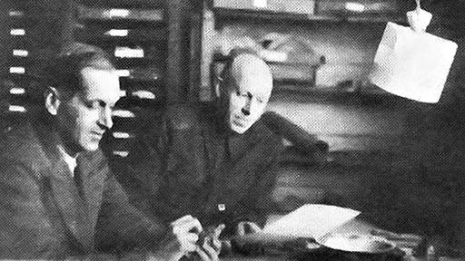 Константин Генрихович Войновский-Кригер и Георгий Петрович Софронов. 1944 год