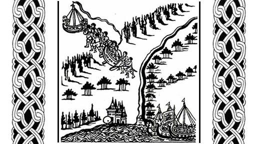 Волок (миниатюра из Ремезовской летописи)