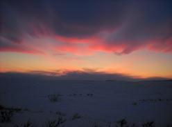 Закат в приуральской тундре