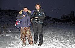 Зарубежные гости на горнолыжке