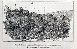 Выход габбро-пегматита (Заварицкий А.Н.)