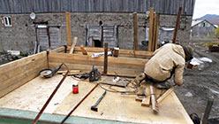 Завершается реконструкция крыши будки ГТ-Т-2 7.09.2014