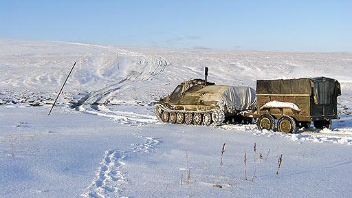 Зимний Харбейский перевал. Переезд через истоки Лонготеган. Октябрь 2008