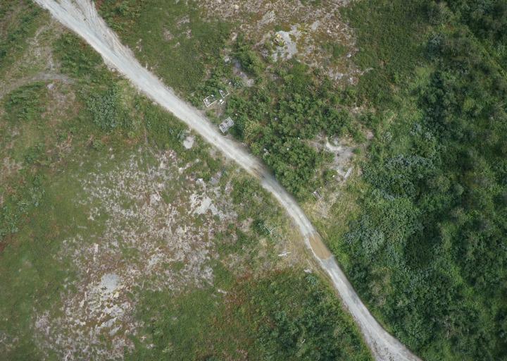 Кладбище Полярного с высоты 300 метров