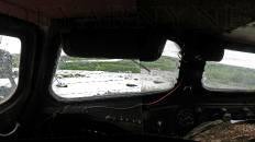 В кабине ГТ-Т2 на Правом Кечпеле